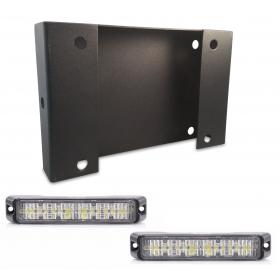 Trilex Intersection Bracket w/ Abrams MFG Flex-12 Dual Color LED Modules