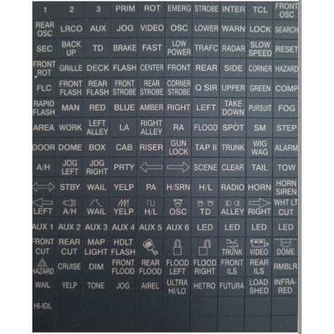Federal Signal Smart Siren Legend Sticker Sheet