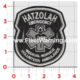 Hatzolah EMS Stealth Tactical Black Patch